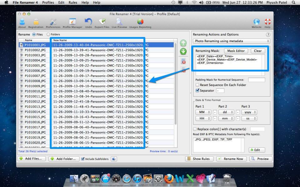 rename multiple files mac 2012